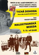 koncert ROCK & ALL 1. - TICHÁ DOHODA + ROCKET ENGINES